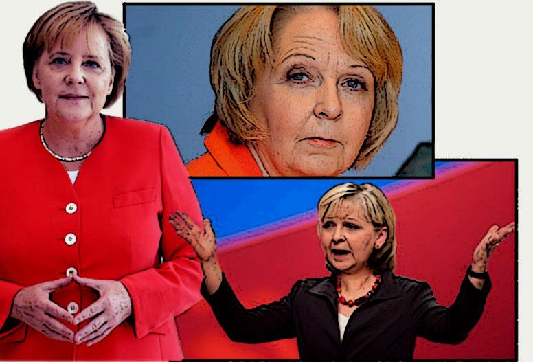 Angela Merkel und Hannelore Kraft